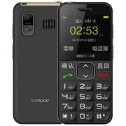 酷派 S588老人手机 移动/联通2G 双卡双待 儒雅黑