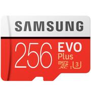 三星 存储卡256GB 读速100MB/s 写速90MB/s UHS-3 Class10 高速TF卡(Micro SD卡)红色plus升级版+