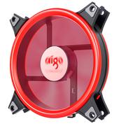 爱国者  极光1S双光环版 红光 机箱LED风扇(12CM/小3P+大4P双接口/水冷排散热/减震脚垫/静音)