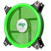 爱国者  极光1S双光环版 绿光 机箱LED风扇(12CM/小3P+大4P双接口/水冷排散热/减震脚垫/静音)