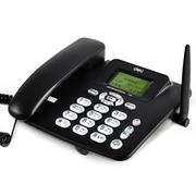 得力 770移动联通SIM插卡电话机 来电显示座机 固定电话无绳 语音播报(商务黑)