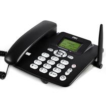 得力 770移动联通SIM插卡电话机 来电显示座机 固定电话无绳 语音播报(商务黑)产品图片主图