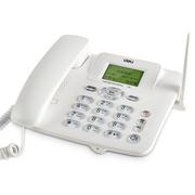得力 770移动联通SIM插卡电话机 来电显示座机 固定电话无绳 语音播报(典雅白)