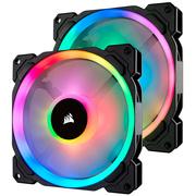 海盗船  LL140 RGB 两颗装 双灯环 炫彩灯光 14CM电脑风扇 带Lighting Node PRO