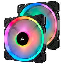 海盗船  LL140 RGB 两颗装 双灯环 炫彩灯光 14CM电脑风扇 带Lighting Node PRO产品图片主图