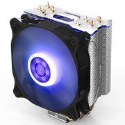 爱国者 冰魄E-4 蓝光 CPU散热器(多平台/支持AMD/PWM温控/12CM蓝色呼吸灯风扇/4热管/附硅脂)