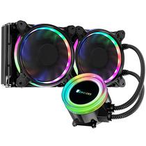乔思伯 TW2-240(601版) 一体式CPU水冷散热器 (RGB七彩流光冷头/12CM温控风扇/多平台/附带硅脂)产品图片主图