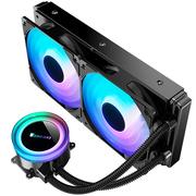 乔思伯 TW2-240(501版) 一体式CPU水冷散热器 (RGB七彩流光冷头/同步七彩12CM风扇/温控/多平台)