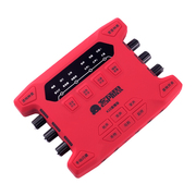 客所思 K10直播版声卡 双手机直播 主播录音K歌喊麦专用声卡 笔记本台式机通用设备声卡 红色