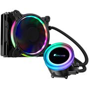 乔思伯 TW2-120(601版) 一体式CPU水冷散热器 (RGB七彩流光冷头/12CM温控风扇/多平台/附带硅脂)
