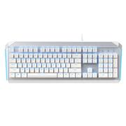 达尔优 EK822 104键PBT键帽背光游戏有线机械键盘 BOX轴 白银色