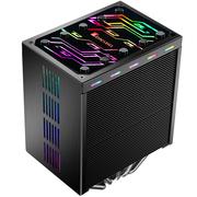 乔思伯 CR-401七彩流光版 CPU散热器 (多平台/双鳍片/4热管/12CM风扇/PWM/全金属扣具/附带硅脂)