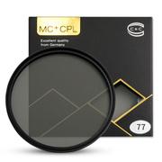 C&C MC+ CPL 77mm 致金多膜高清款CPL偏振镜专业超薄 双面多层 防雾防水消除紫外线单反滤镜