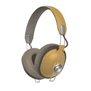 松下  RP-HTX80BGCC 24小时无线播放 快充15min播放150min 亚光漆面复古时尚 头戴蓝牙耳机 黄色