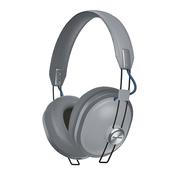 松下  RP-HTX80BGCH 24小时无线播放 快充15min播放150min 亚光漆面复古时尚 头戴蓝牙耳机 灰色