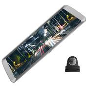 捷渡 D820全面屏行车记录仪 高清大广角流媒体后视镜 F1.8大光圈加强夜视 金属机身