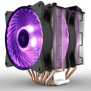 酷冷 T620P RGBCPU散热器(I9 2066、AM4/双塔6热管/12CM双风扇/同步4大板商RGB灯效)