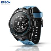 爱普生 J-300  GPS 马拉松光电心率手表水下心率手表 公路蓝