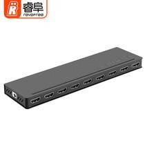 睿阜 CY-H108 HDMI分配器1进8出 4K数字高清一分八视频分屏器 电脑笔记本盒子连接电视一进八出产品图片主图