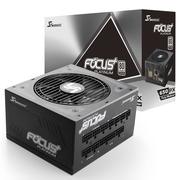 海韵 额定650W FOCUS+650PX 电源(80PLUS白金牌 转换93.8%/全模组/静音低载风扇转停/十年质保)