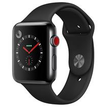 苹果 Watch Series 3智能手表(GPS+蜂窝网络款 42毫米 深空黑色不锈钢表壳 黑色运动型表带 MQR02CH/A)产品图片主图
