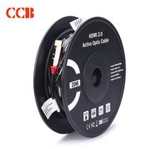 CCB HDMI线2.0版4K数字高清线3D视频线数据线 电视机顶盒连接线 18Gbps  100米  HD-1100产品图片主图