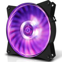 酷冷 MasterFan MF120L RGB机箱风扇(均衡型风扇/旋翼扇叶/12cm/同步4大板商RGB灯效)产品图片主图