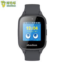 阿巴町 儿童电话手表 B108智能手表 防水拍照360度安全防护定位儿童手表男孩黑色产品图片主图