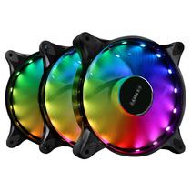 先马 太阳风3 炫彩RGB机箱风扇套装 (3把12cm静音大风扇/液压轴承/多模式灯效/配遥控器)产品图片主图
