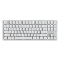 987 德国原厂cherry轴体 有线/蓝牙双模式 87键PBT键帽白色机械键盘 红轴 白色背光产品图片主图