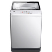 TCL 9公斤 变频全自动波轮洗衣机 玻璃阻尼盖板 智能模糊控制 一级能效(透明黑)XQB90-S300B