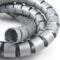 嘉沛 TV-2233Y 理线器束线管 线缆收纳管 (3.3米 直径22mm) 银色产品图片4