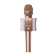 纽曼   MC10 手机麦克风全民K歌无线蓝牙话筒掌上KTV主播声卡电容麦专用套装K歌宝 玫瑰金