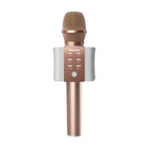 纽曼   MC10 手机麦克风全民K歌无线蓝牙话筒掌上KTV主播声卡电容麦专用套装K歌宝 玫瑰金产品图片主图