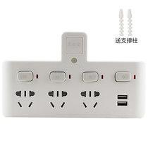 惠尔金 TF-234U灯一转四带小夜灯带USB带儿童保护门分控开关插座/转换插头/转换器产品图片主图