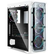 鑫谷 LUX拉克斯豪装版机箱(带4把白灯风扇/2个240冷排位/ATX大板位/亚克力透明侧板/U3/背线)