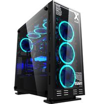 游戏悍将 镜.X次元台式主机箱大黑色(玻璃侧透/支持ATX/散热限高165mm/显卡限长400mm/支持水冷)产品图片主图