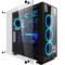游戏悍将 镜.X次元台式主机箱大黑色(玻璃侧透/支持ATX/散热限高165mm/显卡限长400mm/支持水冷)产品图片4