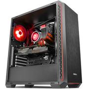 安钛克 P7 Window Red 中塔机箱(侧透机箱/支持ATX主板360水冷/长显卡/吃鸡办公两用)