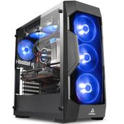 安钛克 DF500 星盾RGB 侧透机箱(钢化玻璃侧透/3把RGB风扇/支持360水冷/ATX主板/长显卡/稳稳吃鸡)