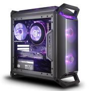 酷冷至尊 MasterBox Q300P 迷你机箱(M-ATX/自带双RGB风扇/4大板商灯效支持/支持长显卡)