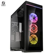 联力 黑色 ATX玻璃侧透机箱(四面钢化玻璃/同步光效RGB/8组PCI插槽/支持多水冷设备)ALPHA 550X产品图片主图