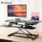 Brateck 站立办公升降台式电脑桌 笔记本显示器支架台办公桌 可移动折叠式工作台书桌DWS06-02黑产品图片1