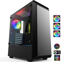 追风者 P300 RGB豪华版 钢化玻璃金属水冷机箱(配3把RGB同步呼吸光圈风扇/支持280水冷/静音防尘)产品图片主图