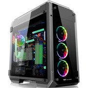 Thermaltake View 71 TG RGB 四面玻璃电竞水冷机箱(3*RGB风扇/5mm钢化玻璃/模块化/支持420水排)