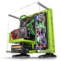 Thermaltake Core P3 绿色 壁挂水冷机箱(开放式机箱/水冷DIY新视野/模块化/双U3/ATX机箱)产品图片主图