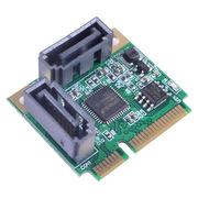 魔羯 MC4654 miniPCI-E转SATA3扩展卡 SATA3.0卡 迷你PCIE硬盘扩展卡2口