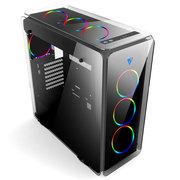 至睿 月光石 标准版 四面悬浮玻璃水冷机箱(双USB3.0/钢化玻璃/支持360水排/支持ATX主板)
