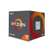 AMD 锐龙 7 2700X 处理器 8核16线程 AM4 接口 3.7GHz 盒装产品图片主图