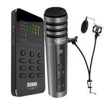 客所思 FX3手机声卡 + 联想 UM10C升级版手机电容麦克风 主播网络K歌录音直播套装产品图片主图